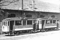 A BSzKRt által ikresített BVVV eredetű kis motorkocsik. (forrás: Régi magyar villamosok)