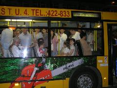 A Győri Nyár megnyitójáról haza lehet jutni autóbusszal, az utasok minden évben ki is használják a lehetőséget. Szilveszterkor miért nem oldható meg ugyanez?, Győr (forrás: Winkler Ágoston)
