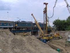 Fúrt cölöp építése, Érd felső, Érd (forrás: Friedl Ferenc)