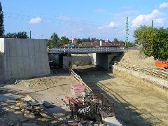 A cölöpfalak elkészülte után kitermelték a talajt, Érd felső, Érd (forrás: Friedl Ferenc)
