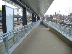 Rámpa a gyalogos aluljáróba a 2-es vágány mellett, Érd alsó állomáson, Érd alsó, Érd (forrás: Friedl Ferenc)