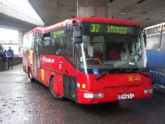 Részben alacsonypadlós SQR busz., Pozsony (forrás: Müller Péter)