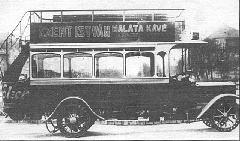 Az 1912-ben beszerzett Ganz-Büssing autóbuszok egyike (XX 12) (forrás: Városi Közlekedés)