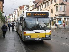 Zuffenhausenben 2010-ig a 15E autóbuszjárat pótolja a villamost a Stadtbahn elkészültéig., Stuttgart (forrás: Müller Péter)
