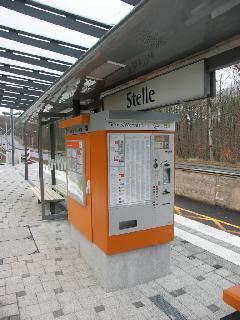 Természetesen az automatákat is beüzemelték már… jó pár napja., Stuttgart (forrás: Müller Péter)
