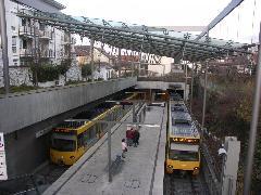 Az U6-os vonal végállomása Gerlingenben egy Stuttgart melletti városban a föld alatt. Régen erre is villamos járt., Stuttgart (forrás: Müller Péter)