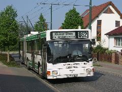 Kertvárosi idill a Sommerfelder Strasse megállóban nem sokkal a végállomás előtt., Sommerfelder Strasse, Eberswalde (forrás: Müller Péter)