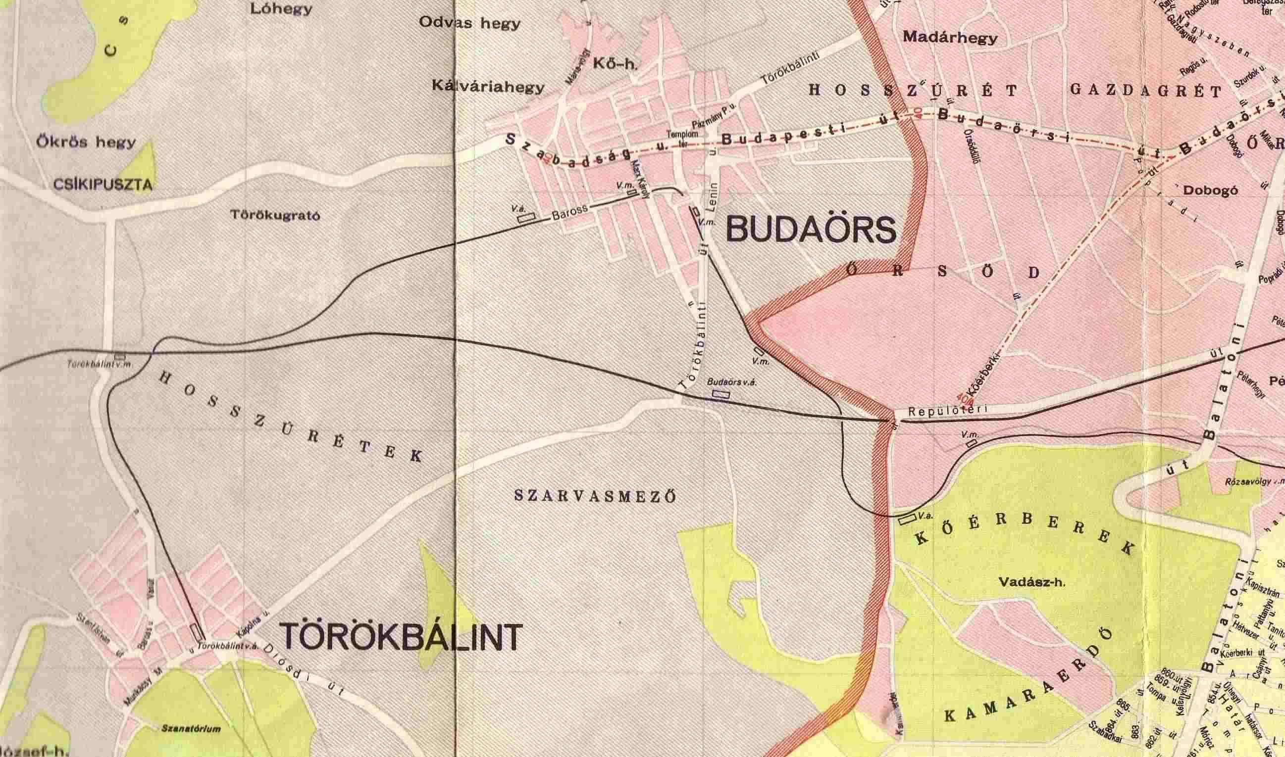törökbálint térkép Villamossal Budaörsre   HamPLÓ törökbálint térkép