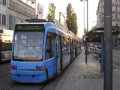 Az MVG 10 villamosvonalat üzemeltet, ezekből 4 éjszaka is közlekedik, München (forrás: Németh Attila)