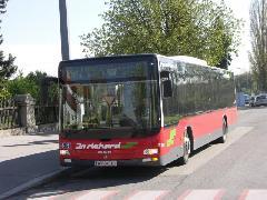 A 80B végállomása is változott: a Schlachthaus gasse helyett a Stadionnál lévő Krieau megálló., Bécs (forrás: Müller Péter)
