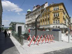 Három nappal az átadás előtt kész van a Taborstrasse megálló., Taborstrasse, Bécs (forrás: Müller Péter)