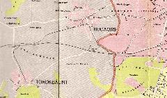 A törökbálinti HÉV külső szakasza egy 1958-as Budapest-térképen., Törökbálint, Budaörs (forrás: Budapest térkép, Kartográfiai Vállalat 1958.)