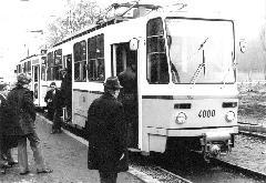 A 4000-es pályaszámú Tatra T5C5 motorkocsi első látogatása Kamaraerdőben., Kamaraerdő, Budapest (forrás: villamosok.hu)