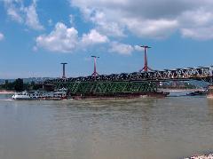 Ritka pillanat: két dunai vasúti híd egy képen, Déli összekötő vasúti híd, Budapest (forrás: Pulisch József)