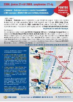 A MÁV-Start utastájékoztató plakátja (forrás: MÁV-Start)