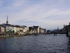 Belvárosi látkép Zürichben, Zürich (forrás: Németh Attila)