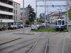7-es villamos készül visszatérni a helyes oldalra , Zürich (forrás: Németh Attila)