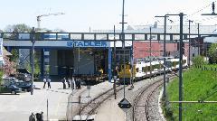 A Stadler csarnoka a vasútállomás felől nézve, Stadler gyár, Bussnang (forrás: Hajtó Bálint)