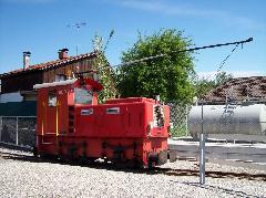 Ez a mozdony a Nemzetközi Rajna-szabályozás múzeumában látható, ma is üzemel., Lustenau, Ausztria (forrás: Tóth-Maros Dániel)