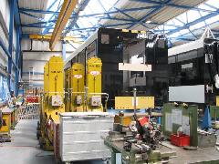 A Stadler-gyár szerelőcsarnokának részlete, Stadler gyár, Bussnang (forrás: Hajtó Bálint)