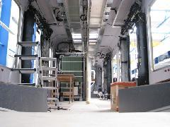 FLIRT motorvonat belső szerelése, Stadler gyár, Bussnang (forrás: Hajtó Bálint)
