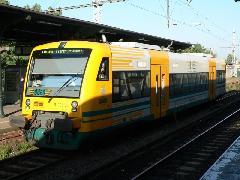 RegioShuttle motorkocsi, az Ostdeutscher Eisenbahn OE36-os járata (Berlin - Frankfurt an der Oder)., Berlin (forrás: Dorner Lajos)