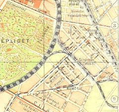 A Kőbányai Iparvasút hálózata egy 1925-ös térképen.