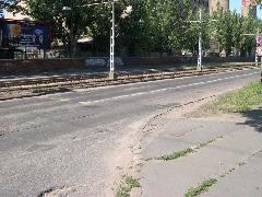A Fertő utcába vezető vágány kiágazásának helye , Fertő utca, Budapest (forrás: Istvánfi Péter)