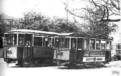 Már BSzKRt-cégjelzésű, de még a BKVT-pályaszámukat viselő pótkocsik. (forrás: A Főváros tömegközlekedésének másfél évszázada III. (Bp, 1987))