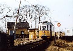 A lajosmizsei vasútvonal keresztezése egykoron. (forrás: Lakos Rudolf)