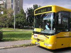 A CITYbusz indulása, Széchenyi Egyetem, Győr (forrás: VEKE)