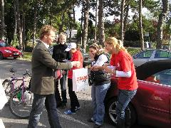 Az utolsó előtti helyezett a gépkocsi volt, aminek a volánjánál Pálinger Katalin ült., Széchenyi Egyetem, Győr (forrás: VEKE)