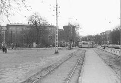 A városközpont felé továbbmenő vágányok maradványait ekkor már csak tárolásra használták. (forrás: VEKE)