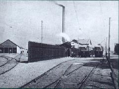 Budafok kocsiszín: a képen még nem látható a törökbálinti vonal megnyitásakor épült négyvágányos kocsiszín (forrás: VEKE)