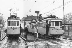 Városház tér (volt Varga Jenő tér) a 43-as villamosok végállomása volt 1972 és 1983 között (forrás: BKV Archívum)