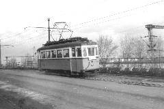 Az ominózus felüljáró, ahol a Nagytétény felé közlekedő villamos és a belváros felé haladó autók szembe találták magukat (Komjáthy Zoltán felvétele)