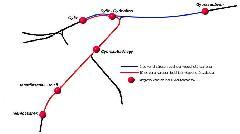 Hiányzó vágánykapcsolatok, régóta tervezett, de meg nem épített megállóhelyek nehezítik Győr vasúthálózatának mai helyzetét. (forrás: VEKE)