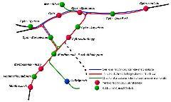 Teendők a győri vasútvonalakon. Kiemelten fontos az új adyvárosi megálló, s a marcalvárosi GySEV-állomás vágányzatának összekötése a 10-es vonallal. (forrás: VEKE)