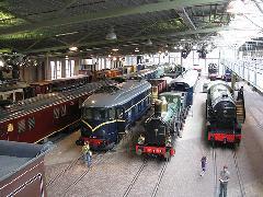 A Holland Vasúti Múzeum csarnoka Utrechtben., Utrecht (forrás: Sparing Dániel)