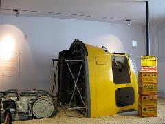 Forgózsámoly és az illeszkedő karosszériaszelvény a hágai tömegközlekedési múzeumban., Hága (forrás: Sparing Dániel)