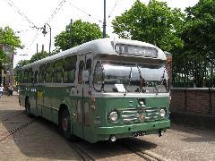 A hágai múzeum buszainak egy része működőképes, így a nosztalgiajáratokon is részt vesz., Hága (forrás: Sparing Dániel)
