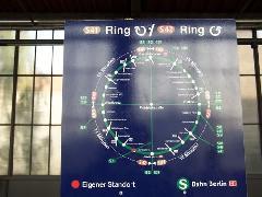 Az egyetlen 10 percenként közlekedő S-Bahn a körvasúti S41/S42 maradt., Berlin (forrás: Németh Zoltán)