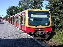 Egy 481-es korábban az S5-esen Strausberg állomáson., Berlin (forrás: Halász Péter)
