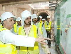 Mohamed sejk szívügye a metró, Dubaj (forrás: gulfnews.com)