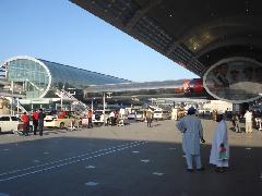 A repülőtéri metróállomás, Dubaj (forrás: Nagy Levente)