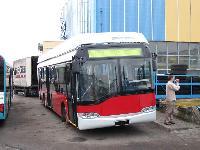 Budapest számára készülő Solaris a lengyelországi gyárban., Solaris gyár, Bolechowo (forrás: Adam Muth (http://transport.desk.pl))