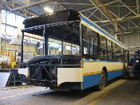 A Debrecen számára készülő egyik Solaris T12-es a gyártócsarnokban., Solaris gyár, Bolechowo (forrás: Adam Muth (http://transport.desk.pl))