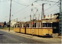A 64-es villamos a Vezér utcában., Vezér utca, Budapest (forrás: Horváth János)