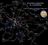 A VEKE éjszakai hálózattervének grafikus ábrázolása