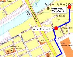 A Városrétre tervezett ideiglenes nosztalgiabusz-megállóhelyek (forrás: VEKE)